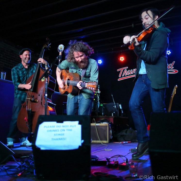 (L-R) Matt Murphy, Christopher Paul Stelling and Kieran Lewidge last May at Thunder Roads.