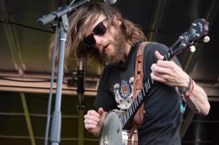 Max Davis, banjo and vocals for the Ghost of Paul Revere, a Portland-based folk group.
