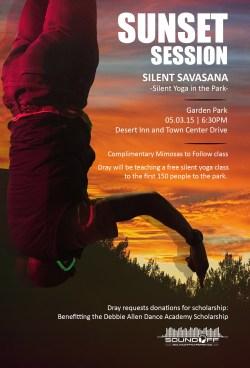 Silent Savasana x Sound Off Yoga