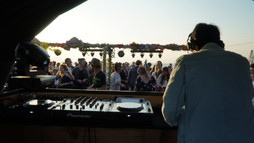 Clockenflap – View from the DJ booth