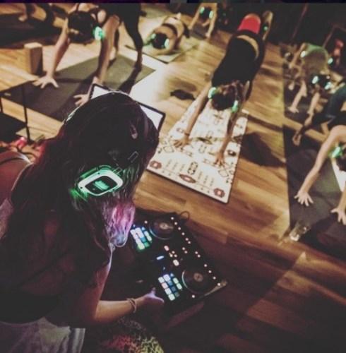 Binaural beats make silent yoga complete.