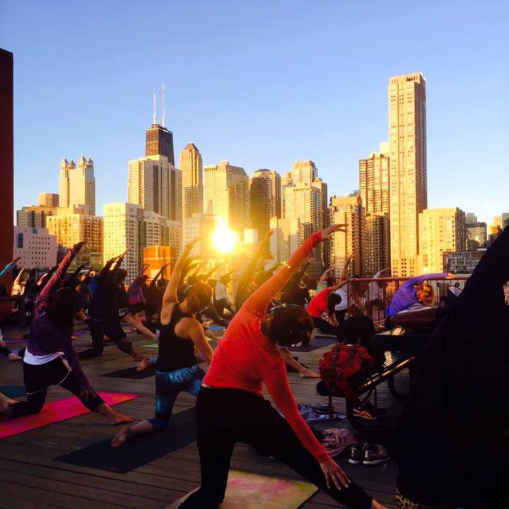 Sunset Skyline Yoga