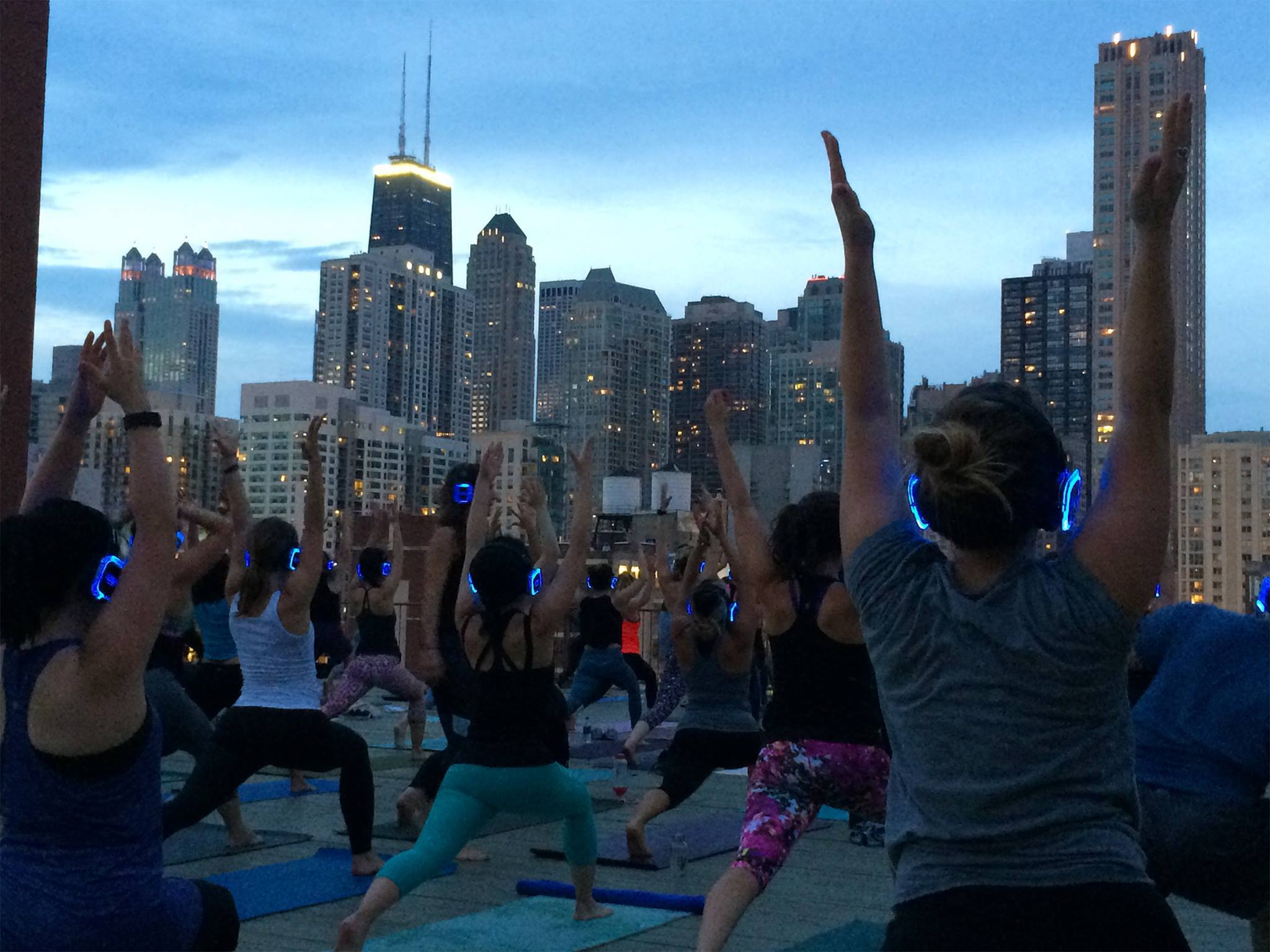 Skyline Silent Disco Yoga