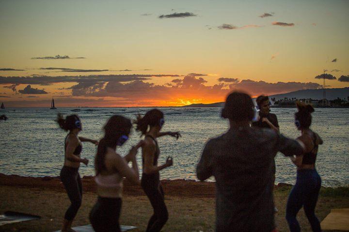 Sunset Silent Disco Yoga