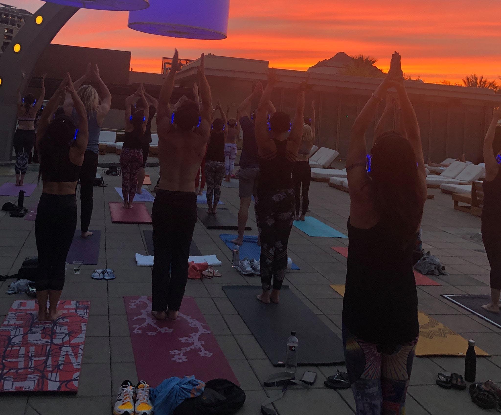 Sunset Beats Yoga w/ Silent Disco Headphones