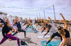 Flow + Flavor // Rooftop Yoga at Smorgasburg x ROW DTLA