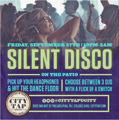 Silent Disco on the Patio @ City Tap House