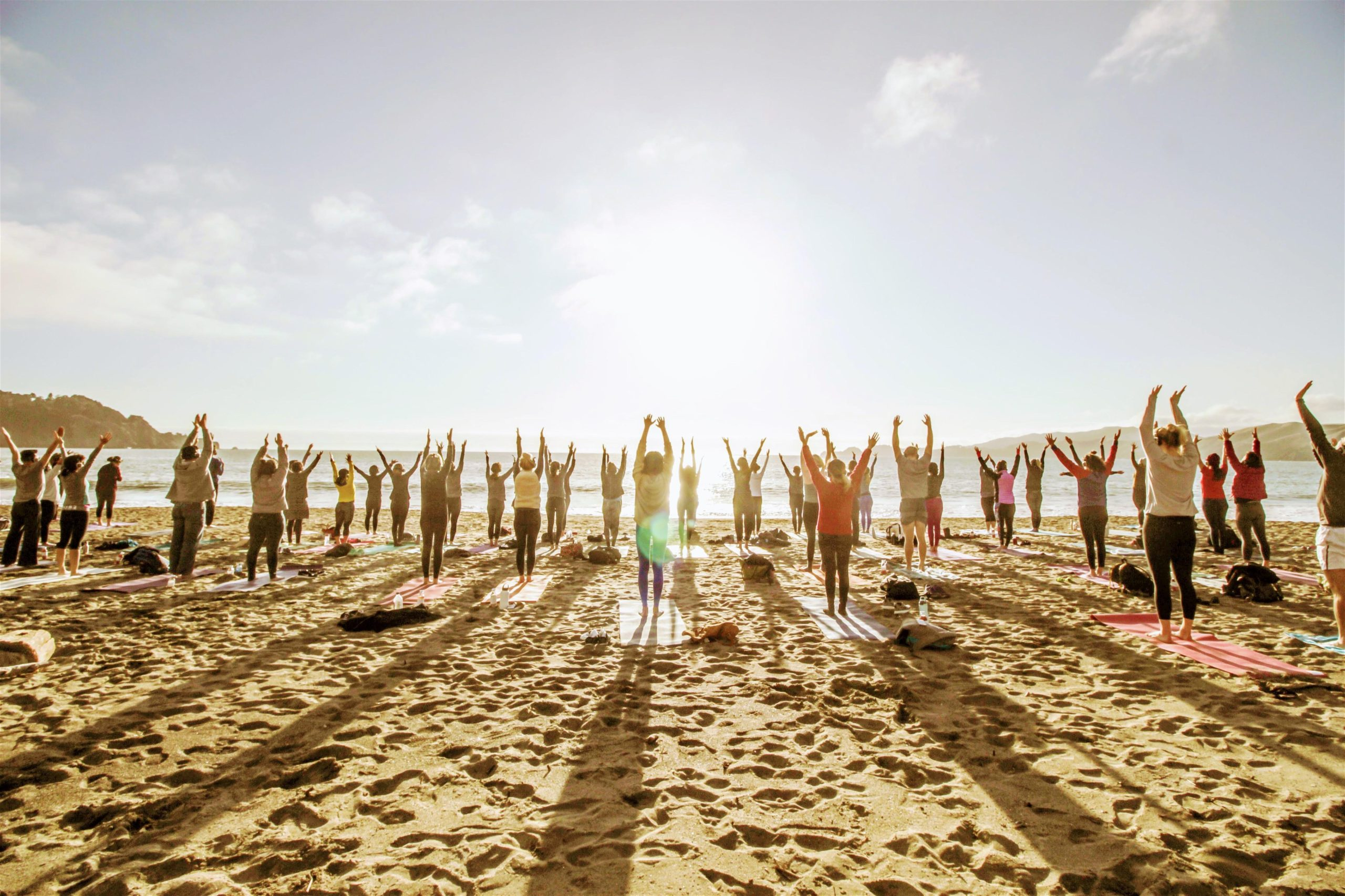 Saturday Groove Beach Yoga with Julie!