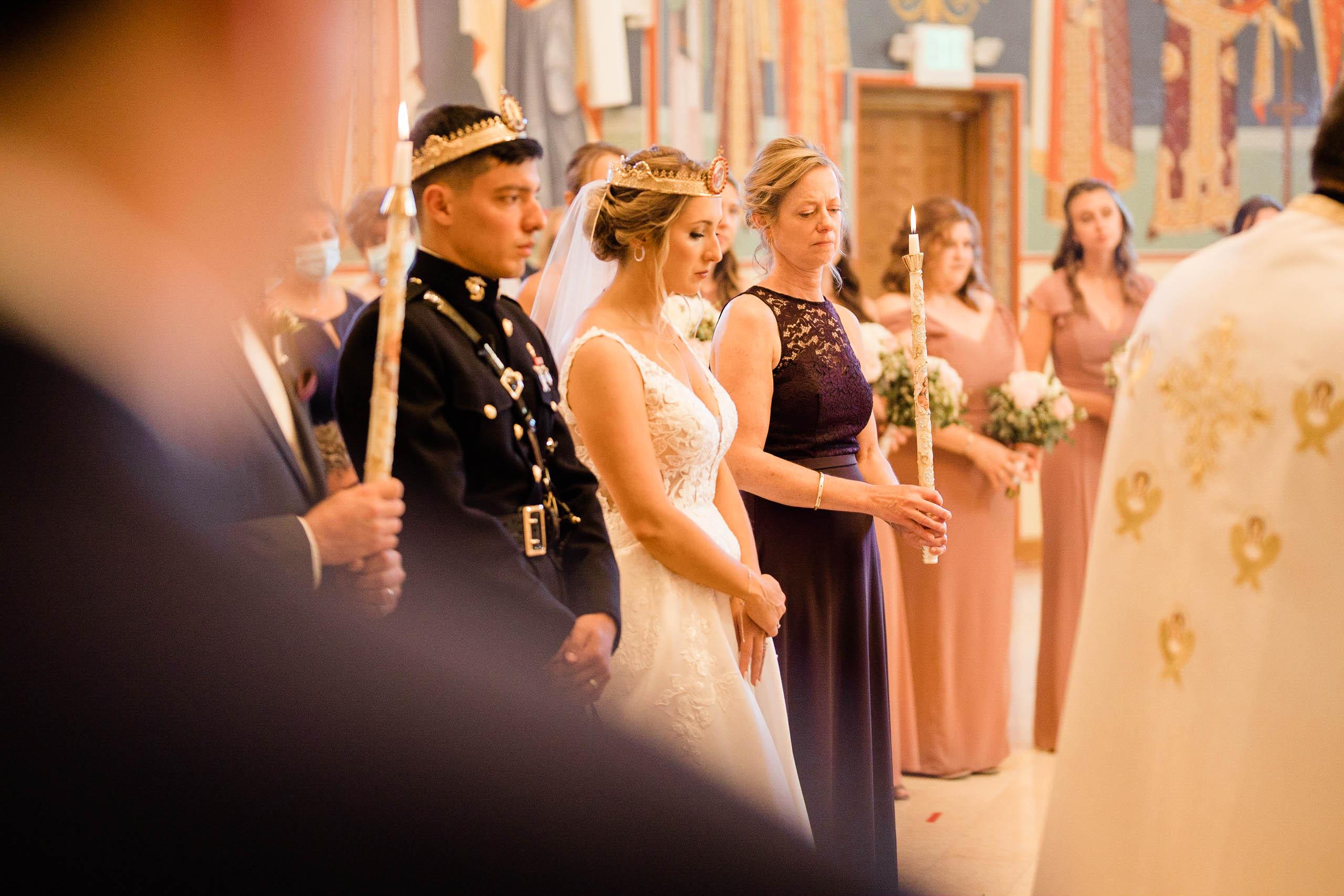 craven farm wedding at gorgeous Orthodox Church in Mountlake terrace