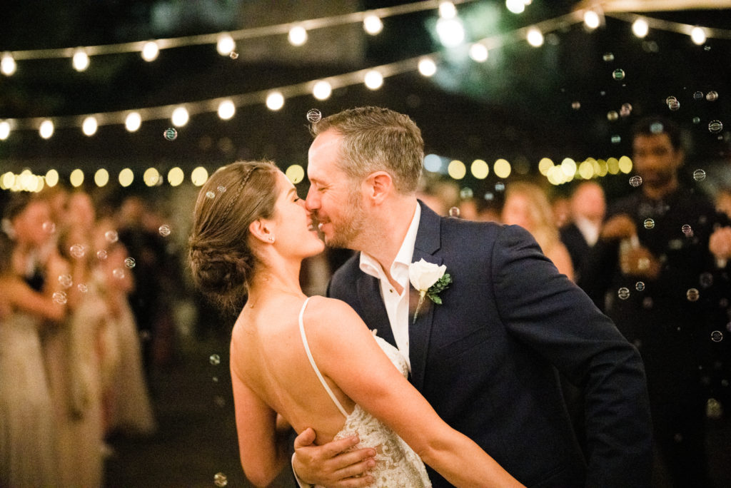couple leaves for honeymoon after marriage at Roche Harbor Resort wedding