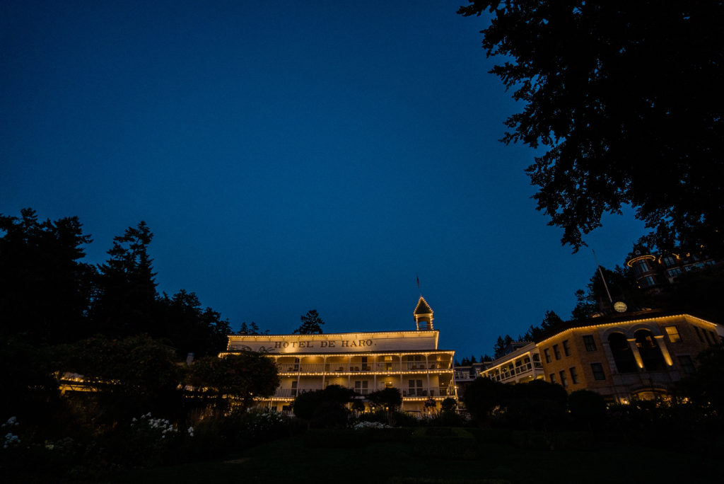 Roche Harbor Resort wedding photos of hotel de haro