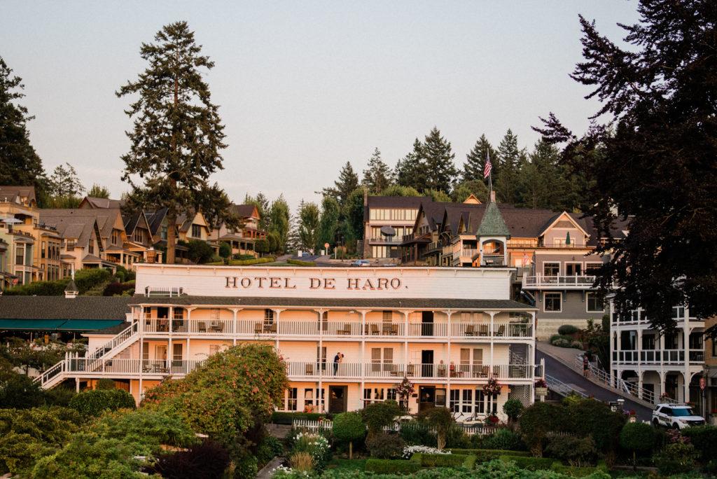 Roche Harbor Resort wedding photo of hotel de haro in Friday Harbor
