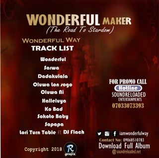 Wonderful Way - Wonderful Maker; The Road To Stardom