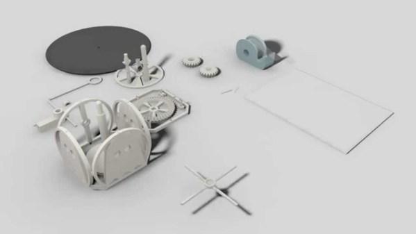 3Dプリンターで作られたパーツで、組み立てから楽しめる簡易レコードプレイヤー