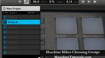 Maschine Mikro Tutorial – how to choose groups from the hardware