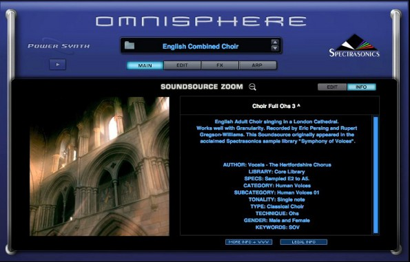 Spectrasonics Omnisphere - Traditional and Acoustic sounds