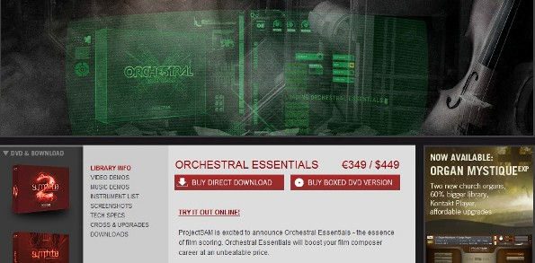 Project sam orchestral essentials library review soundsandgear.