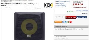 KRK K10S Powered Subwoofer review