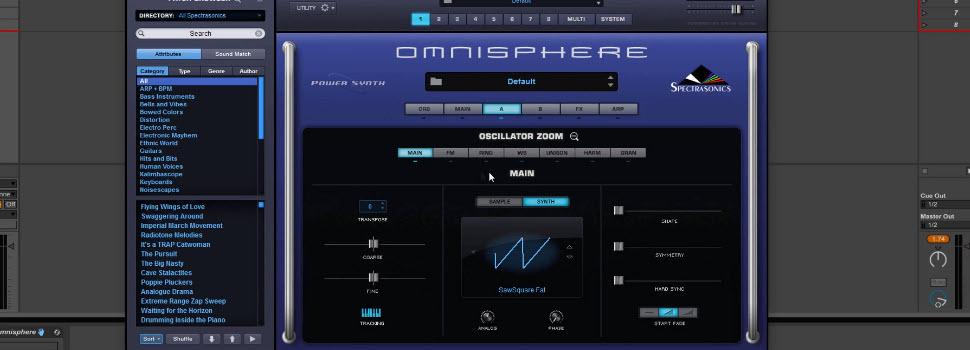 Spectrasonics Omnisphere 2 Synth Engine - Oscillator Section