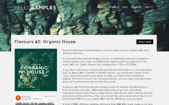 Product Demo: HelloSamples Flavours #2 – Organic House