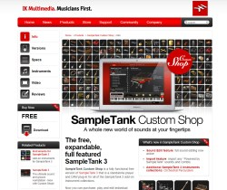 Free Download: IK Multimedia SampleTank Custom Shop