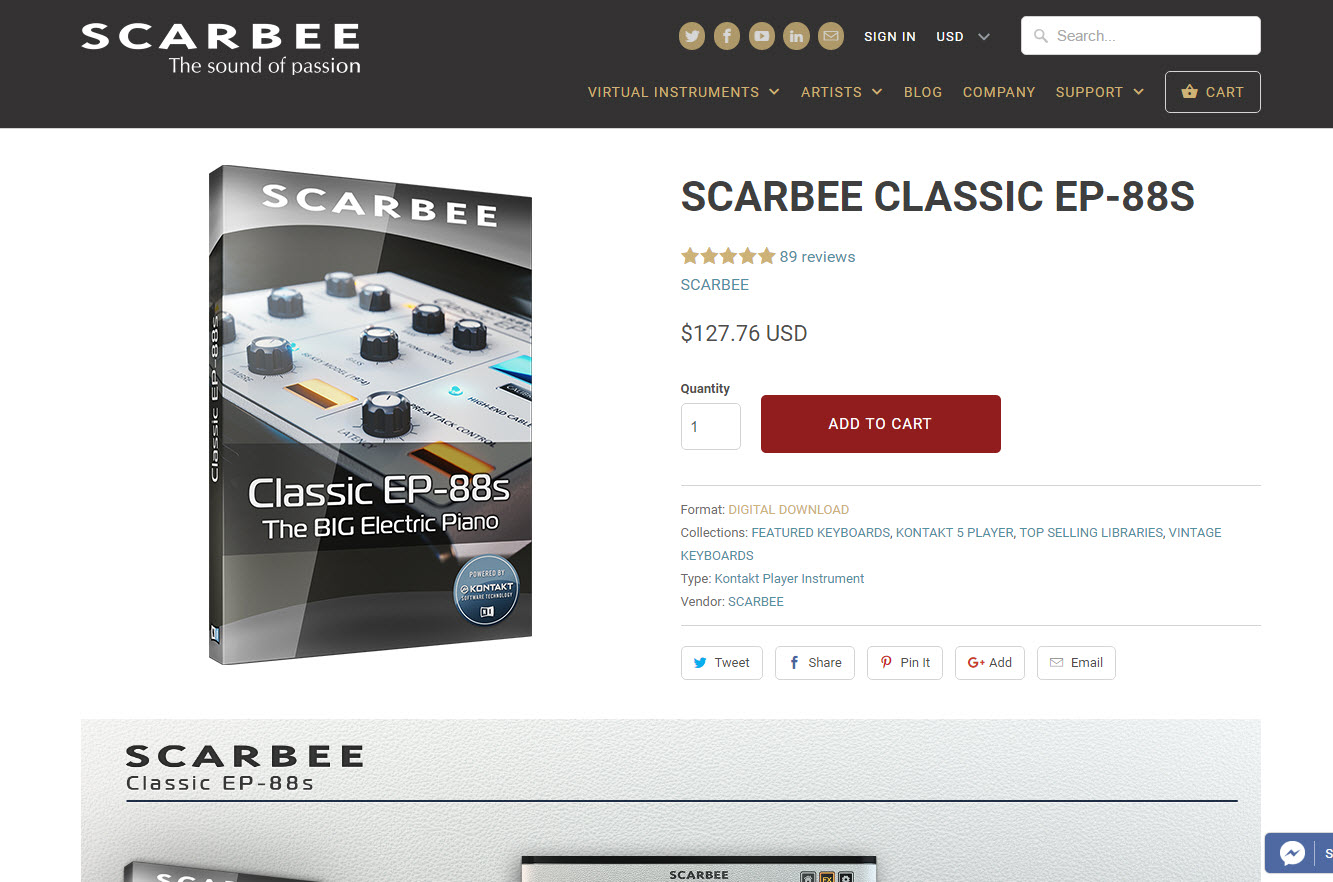 Review: Scarbee Classic EP-88s