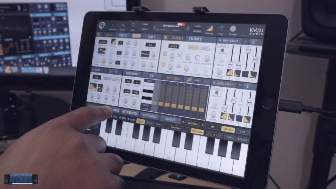 KV331 Audio SynthMaster One iOS Wavetable Synth App Demo