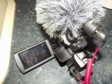Sony HDR-PJ620 with Rode VideoMicro