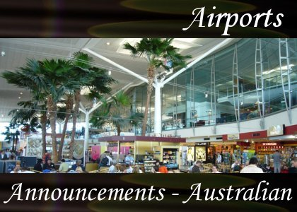 SoundScenes - Atmo-Airport - Announcements, Australian