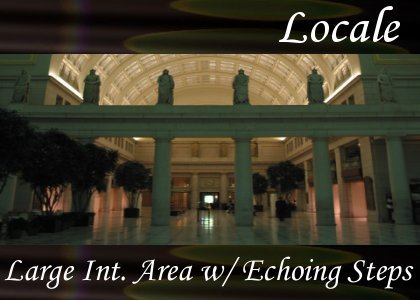 SoundScenes - Atmo-Locale - Large Interior Area with Echoing Steps