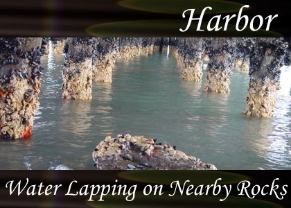 SoundScenes - SL Atmo-Harbor - Water Lapping Nearby Rocks