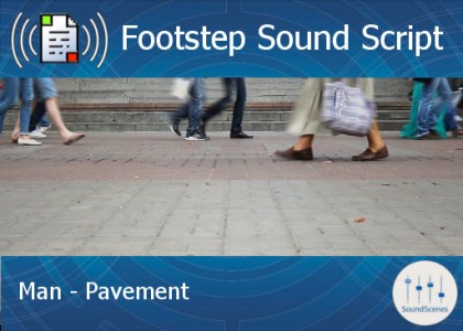 footstep script – man – pavement