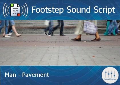 footstep script - man - pavement