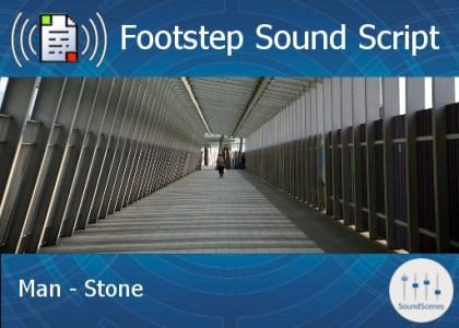 footstep script - man - stone