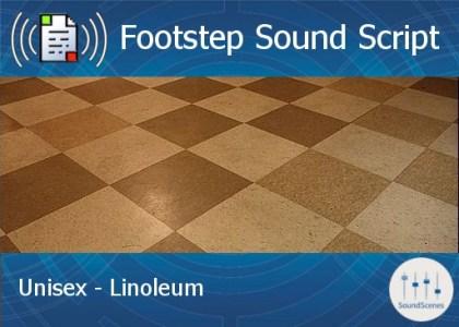 footstep script - unisex - linoleum