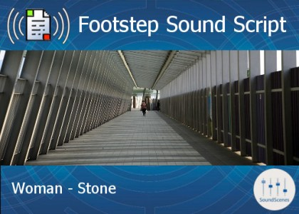 footstep script - woman - stone