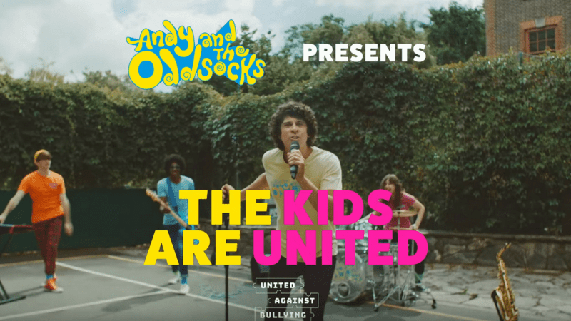 "The band Andy and the Odd Socks stands up against bullying with song ""The Kids Are United"""