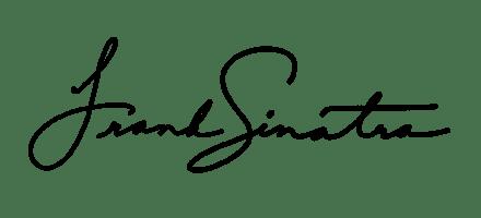 автограф Фрэнка Синатры