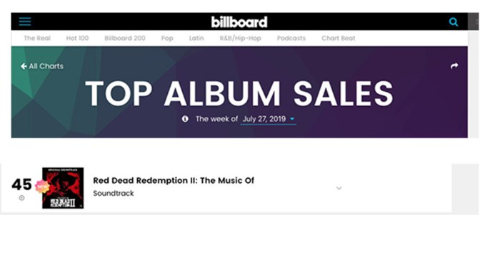 Lakeshore Records is Proud To Announce That Rockstar Games' The Music of Red Dead Redemption 2: Original Soundtrack Is Now A Top 50 Album and Top 25 Soundtrack On Billboard!