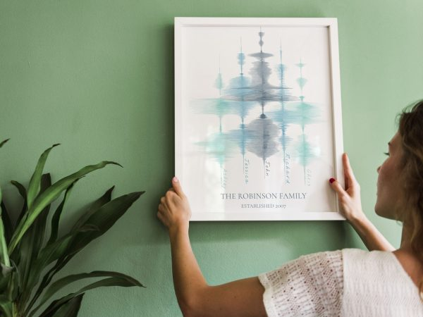 Family Sign Created from Family Members' Voice Soundwaves