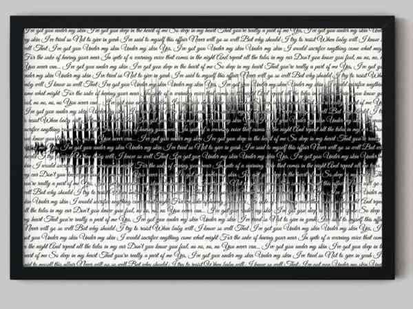 Song Lyrics Art with Soundwave