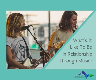 A couple making music together can improve their relationship