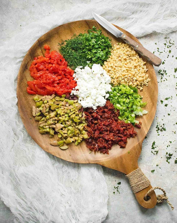 Ingredients for Mediterranean Salsa