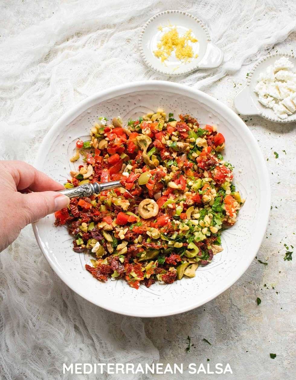 Mediterranean Salsa - Recipe at SoupAddict.com