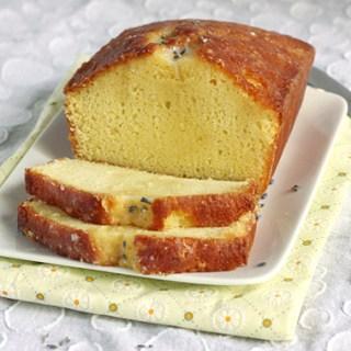 Lemon Loaf Cake with Lavender Glaze