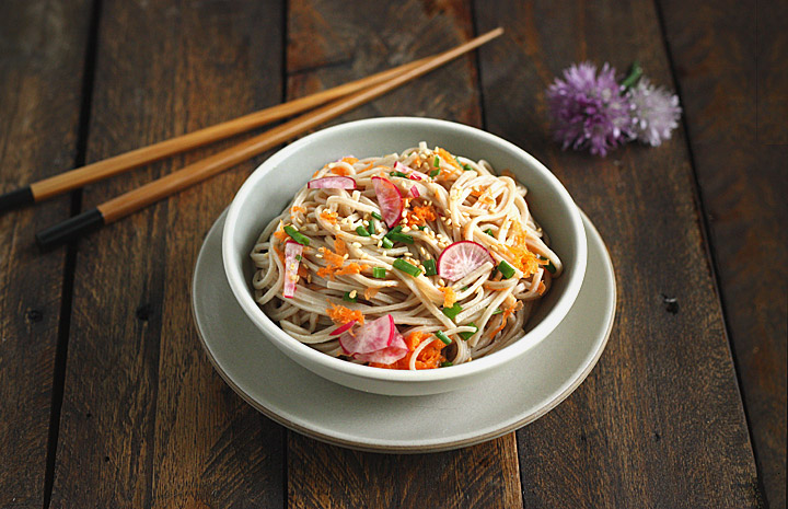 Soba Noodle Salad with Orange Miso Vinaigrette