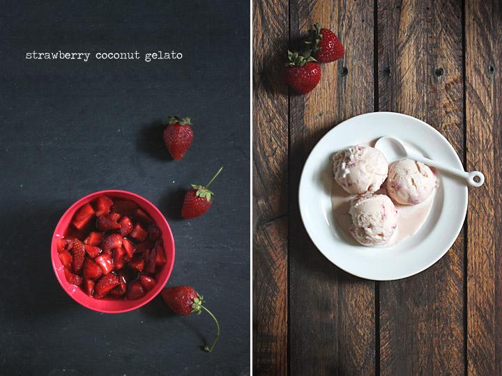 Strawberry Coconut Gelato