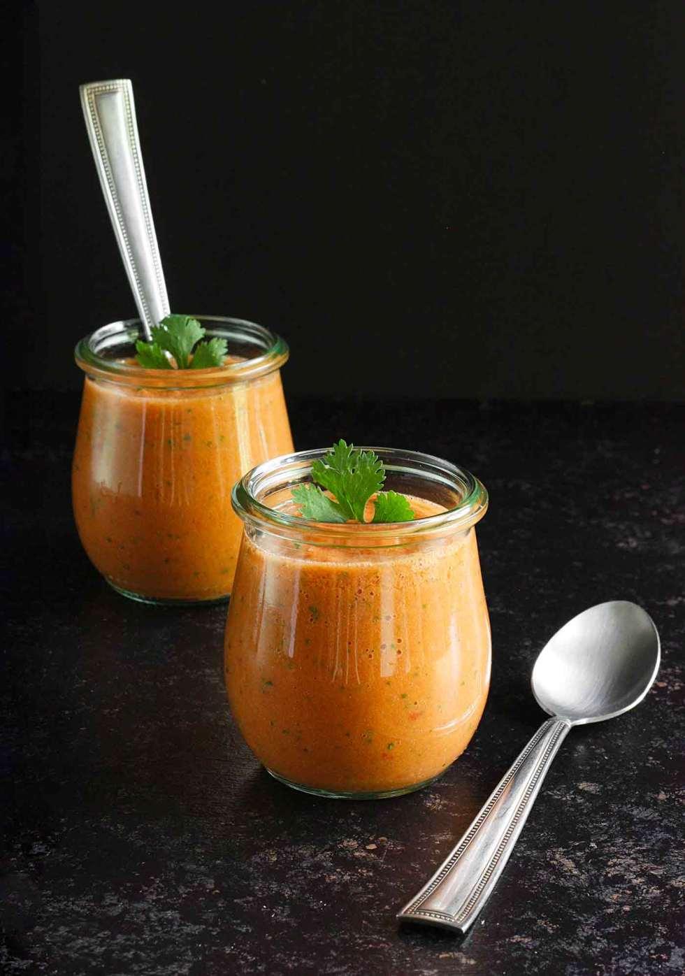 Guaczpacho in cute little jars