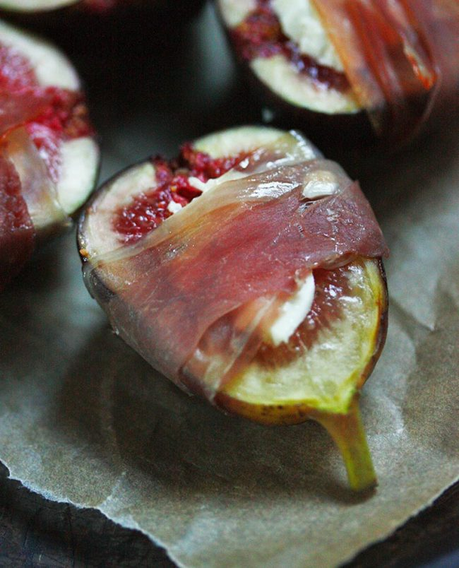 Figs Prosciutto, fresh from the oven