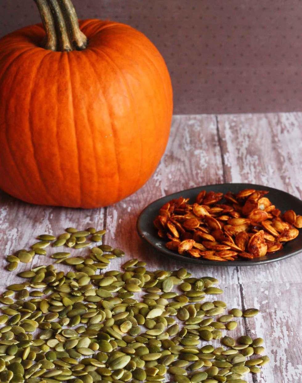 Pumpkin seeds for honey sriracha pumpkin seeds